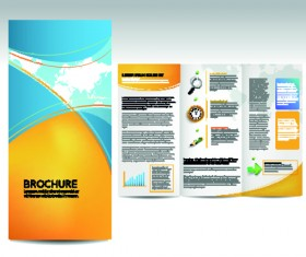 Set of business brochure cover vector 03