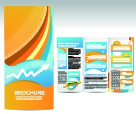 Set of business brochure cover vector 04