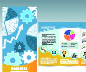 Set of business brochure cover vector 05