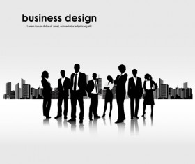 Different Business people vector background set 03