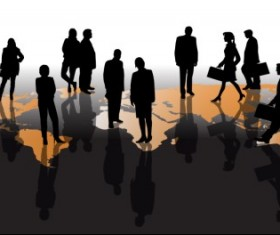 Different Business people vector background set 05