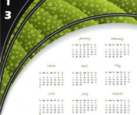 Fashion of 2013 calendars elements vector set 01