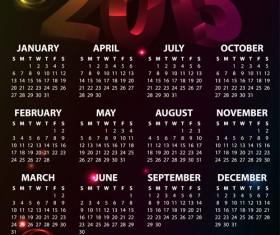 Fashion of 2013 calendars elements vector set 03