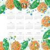 Fashion of 2013 calendars elements vector set 04