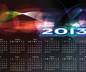 Fashion of 2013 calendars elements vector set 05
