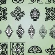 Link toVintage calligraphic border frame and ornament vector set 10