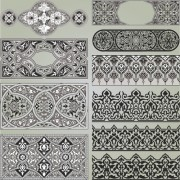 Link toVintage calligraphic border frame and ornament vector set 16