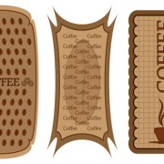 Link toDifferent coffee elements vector background set 01