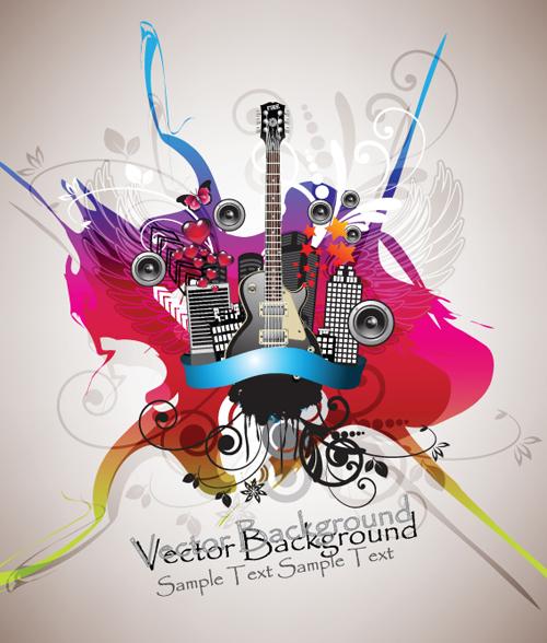 Disco party Flyer cover design vector 01