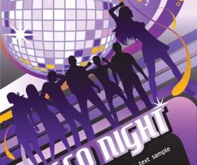 Disco party Flyer cover design vector 02