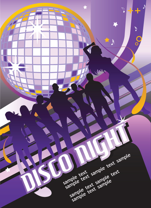disco party flyer cover design vector 02 free download