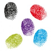 Link toColored finger-prints elements vector set 03