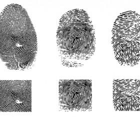 Colored Finger-prints elements vector set 04