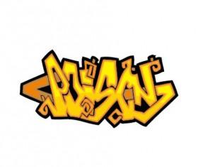 Funny graffiti alphabet design vector 02