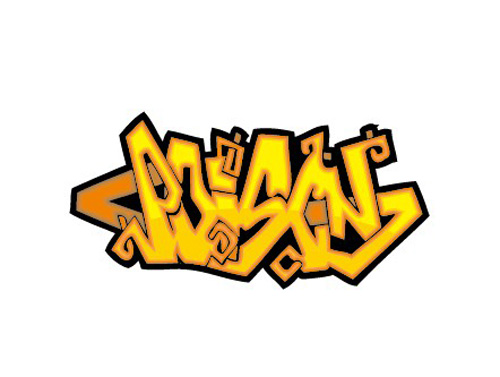 Funny graffiti alphabet design vector 02