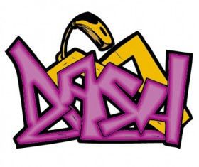 Funny graffiti alphabet design vector 03
