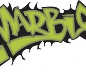 Funny graffiti alphabet design vector 06