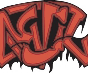Funny graffiti alphabet design vector 07