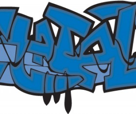 Funny graffiti alphabet design vector 08