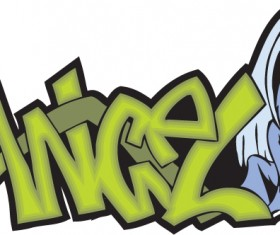 Funny graffiti alphabet design vector 09