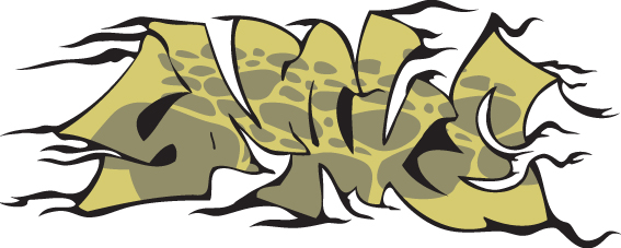 Funny graffiti alphabet design vector 10