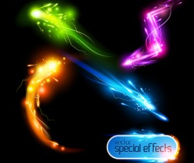 Rainbow Light effects design vector material 02