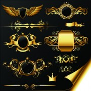 Link toLuxurious golden heraldic with ornaments vector 01