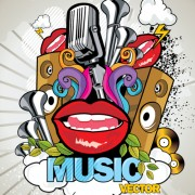 Link toCreative music style design elements vector 01