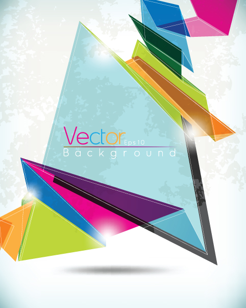 offbeat shapes backgrounds vector graphics 02