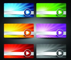 Web design Stylish Banner vector graphic 01