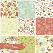 Link toVector set of christmas style pattern illustration 02
