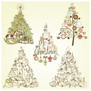 Link toVector set of christmas style pattern illustration 03