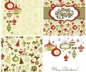 Vector set of Christmas style pattern Illustration 04