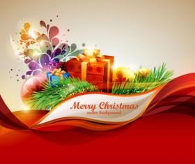 Elements of Merry Christmas design vector art 02
