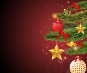 Elements of Merry Christmas design vector art 03