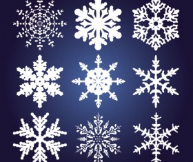 Different Snowflake pattern mix vector graphics 01