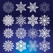 Link toDifferent snowflake pattern mix vector graphics 02