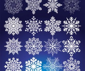 Different Snowflake pattern mix vector graphics 02