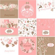 Link toVector set of christmas style pattern illustration 01