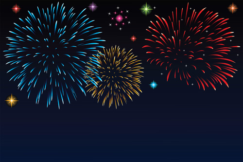 Fireworks Powerpoint Template from freedesignfile.com