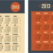Link to2013 creative calendar collection design vector material 21