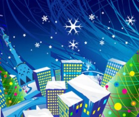 Elements of cartoon Christmas vector banner design 01