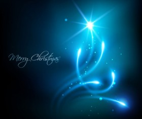 Glowing Christmas ornaments vector backgrounds 01