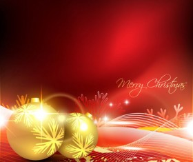 Glowing Christmas ornaments vector backgrounds 02
