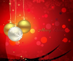Glowing Christmas ornaments vector backgrounds 03