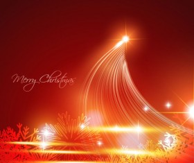 Glowing Christmas ornaments vector backgrounds 04