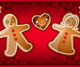 Elements of cartoon Christmas vector banner design 02