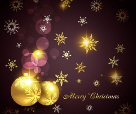 Glowing Christmas ornaments vector backgrounds 05