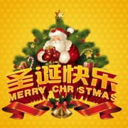 Link toMerry christmas greeting cards vector  chinese