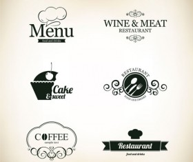 Commonly Restaurant menu cover template vector set 02